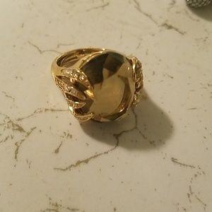 Stella & dot brown stone ring